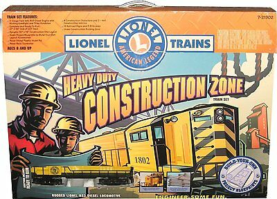 Lionel Heavy Duty Construction Zone Train Set 7-21902 O Gauge RS3 Diesel Engine