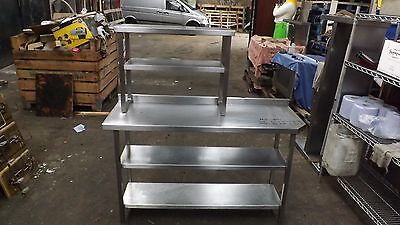 Commercial Two Tier All Stainless Steel Prep Table