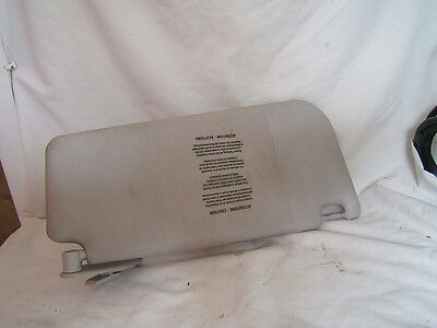 Fiat Punto Mark 2 Drivers Side Sun Visor From 2004 Year Car