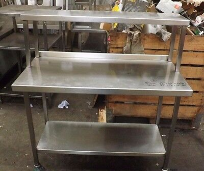 Commercial Two Tier Salamander Stainless Steel Prep Table