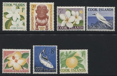 Cook Islands: 1963 QE2 part-set of 7 stamps to 1/- SG163-169 LMM QQ241