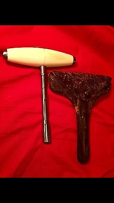 A Large Of Very Finest Quality Piano Tuning Tool~In Original Leather Case~1893.