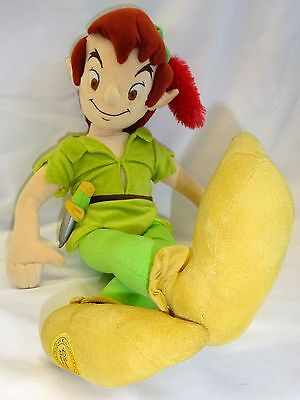 """Disney Store Exclusive Authentic 20"""" Peter Pan Soft/Plush Toy*Neverland*"""