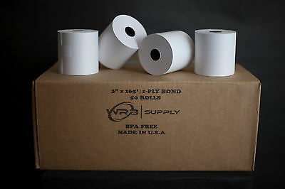 "1-Ply Kitchen Printer Paper Bond 3""x165' (50 Rolls)"