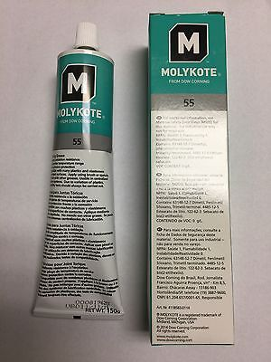 DOW CORNING MOLYKOTE 55 O-Ring Silicone Grease Lubricant Lube 5.3 oz Tube