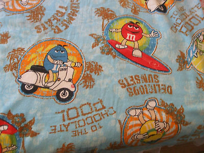 m&ms candy BEACH TOWEL, tucks up in to a carry bag,preowned