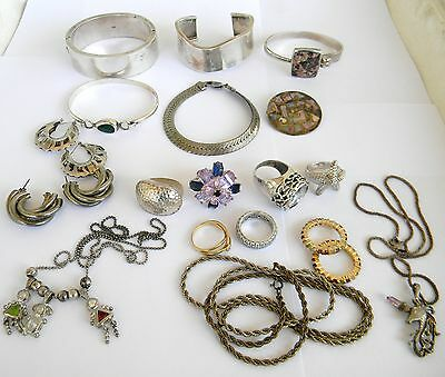 Sterling Silver 925 Jewelry lot Wear NOT Scrap 315 grams total Nice Pieces