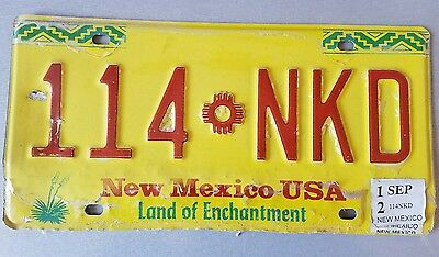 expired new mexico license plate