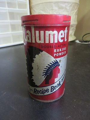 Vintage Calumet Baking Powder 1LB - 454 grams Tin can with lid