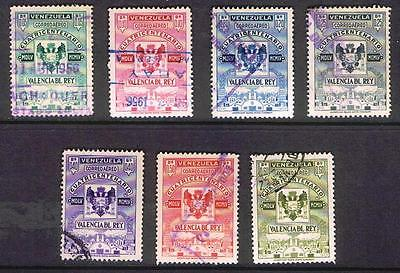 Venezuela 1955 Air Stamps - complete to 0.60 bolivars - Used