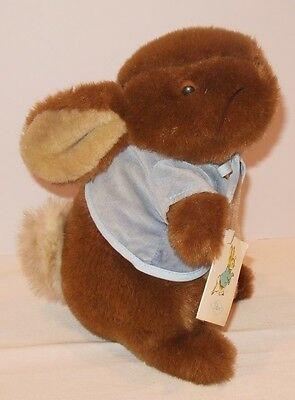 "Vintage Eden Peter Rabbit Bunny Blue Jacket Made in Korea Plush 10"" with tag"