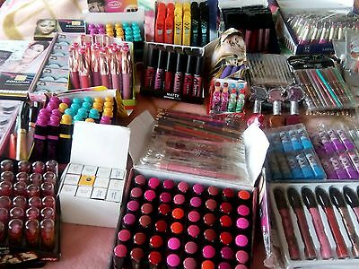 100 Branded wholesale joblot mixed makeup cosmetic items new