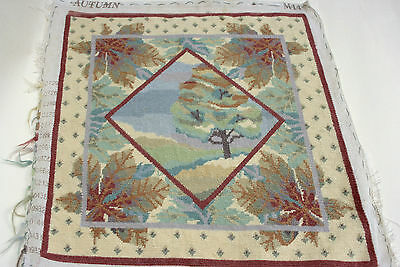 "Julia A'court ""autumn"" Trees Completed Tapestry Needlepoint"