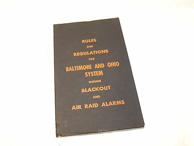 B&o Rules And Regulations During Blackout And Air Raid Sirens Booklet 1942 Wwii