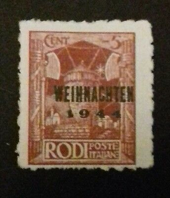 1944 German occupation of Italy Stamp 5 Cents (a).