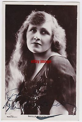 Stage actress Phyllis Neilson-Terry with long hair. Signed Picturegoer postcard