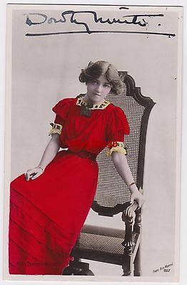 Stage actress Dorothy Minto. Signed postcard