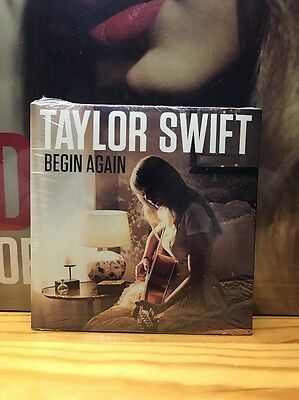 Taylor Swift Begin Again Single Promo OOP Rare Red Numbered Limited