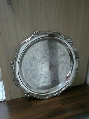 Vintage silver plated silver or drinks serving tray