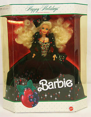 1991 HAPPY HOLIDAY BARBIE Special Ed Doll GREEN VELVETY GOWN #1871 NEW & NRFB