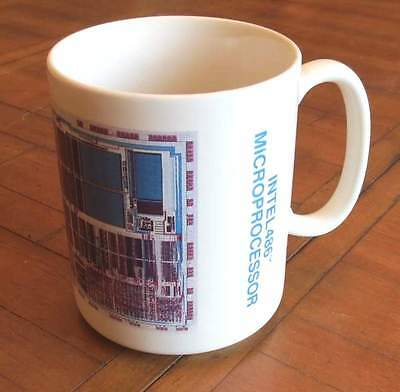 Intel 486 Microprocessor Die Picture Collectible Coffee Mug/cup-No Chips/cracks