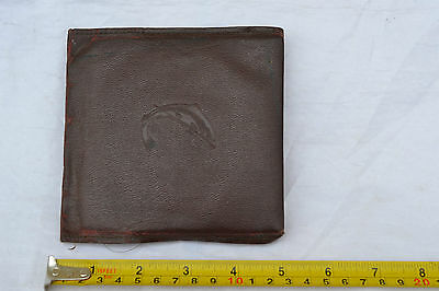 Old Fishing Wallet with Salmon Logo Hardy Flies Fly's