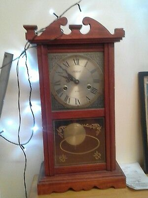 Vintage Mechanical Chiming Grandmother Clock with key working