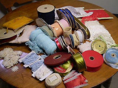 Clearance  Lots Ribbons Crafts and Fabric  Take Look   Make Offer