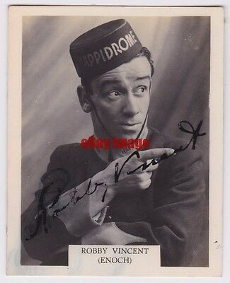 Early 1940s comedy star Robbie Vincent as Enoch in Happidrome. Signed photo