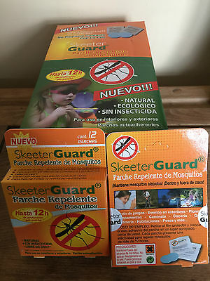 Repellent 10 packs 1 Box SkeeterGuard Insect Mosquito Patches Camping, Fishing