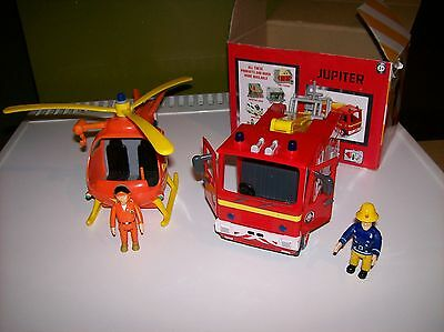 Fire Engine + Helicopter + 2 Figures.ex.condition.