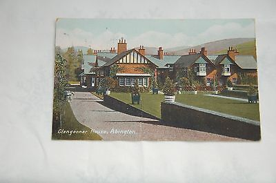 Edwardian Hand Tinted Postcard Glengonnar House Abington Lanarkshire Posted 1907
