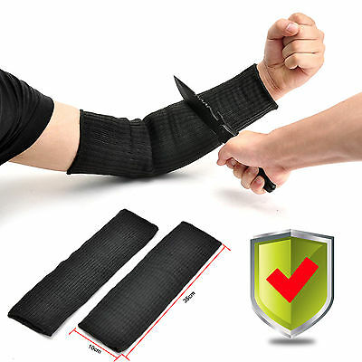 A Pair Steel Wire Cut Proof Anti Abrasion Stab Resistant Armband Sleeve Bracers