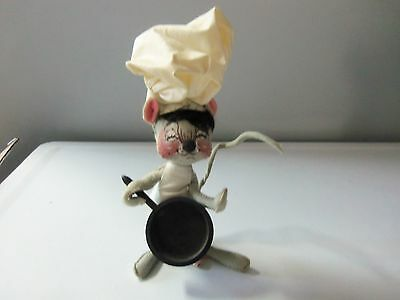 1965 1966 Annalee Doll -  Chef Mouse w/ Frying Pan