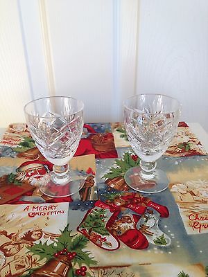 """Vintage 1970's Royal Brierley """"braemar"""" Design Sherry Glass 3.5 Inches High X 2"""