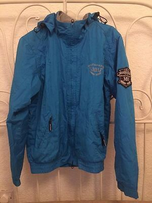 Mountain Horse Crew Jacket - Unisex Womans Mens Riding Coat - Regal Blue S 8 10