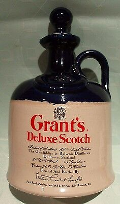 """A """"grant's"""" - *deluxe Scotch Whisky* Decanter In Good Condition."""