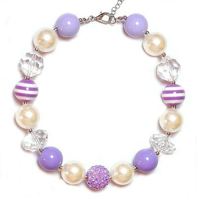 Children Baby Kids Girls Toddler Chunky Beads Bubblegum Gumball Necklace Jewelry