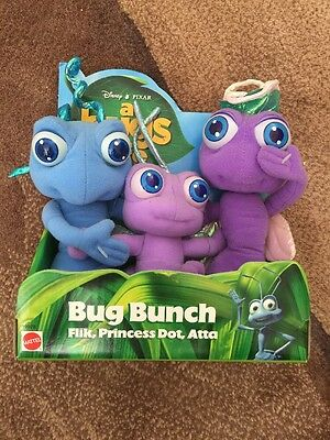NIP 1998 Disney Pixar A Bug's Life Bug Bunch Flik Princess Dot Atta Plush