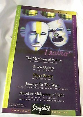 """""""JOURNEY TO THE WEST"""" Showbill Goodman Theatre Chicago  05/95"""