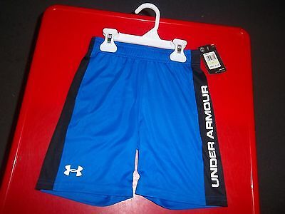NWT Boy's Size 4  Blue with Black  Under Armour Shorts