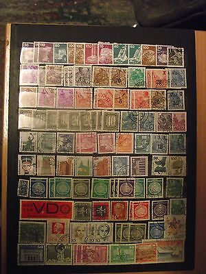 Germany ( DDR&West ).old stamps mixture.M&H.used.3 scan,lot.25