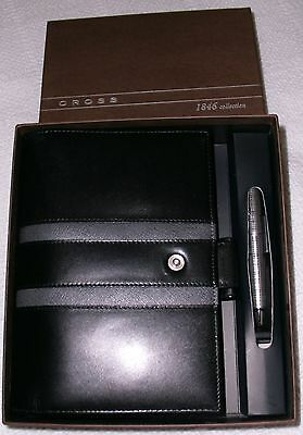 NEW! Cross 1846 Leather Collection Personal Agenda-Black with Pen