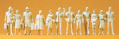 Preiser 63000 Passenger and Passers-by 12 unpainted figures, Spur 1, 1:32