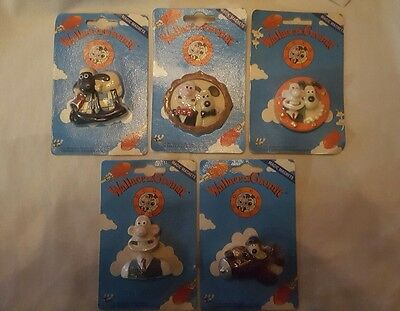 5 x boxed wallace and gromit fridge magnets