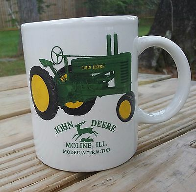 John Deere Mug Coffee Cup Model A Tractor Moline Illinois Licensed Product