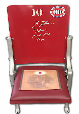 Montreal Canadiens Forum Seat - Autographed by Guy Lafleur