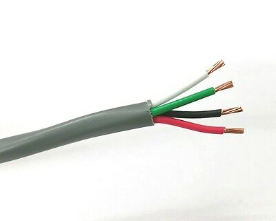 25' NEW 4 Conductor 18 Gauge Unshielded Cable ~ 4C 18AWG CMR U1804