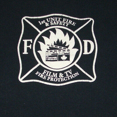 First Unit Fire Department & Safety T Shirt L Rescue Film Movie Crew TV Canada