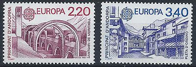 FRENCH ANDORRA 1987 SG F390-F391 Europa CEPT Architecture Set Mint MNH A#006